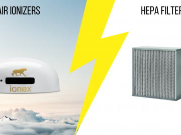 Difference between HEPA filters and ionizers